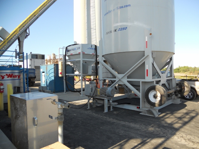 Supersack with a PD tank at an Asphalt plant