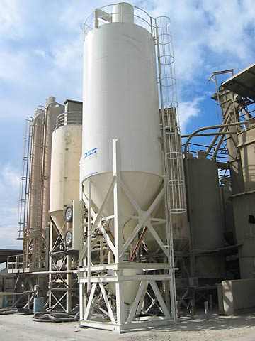 2800 cf Lime Silo with Pneumatic Transfer Pod