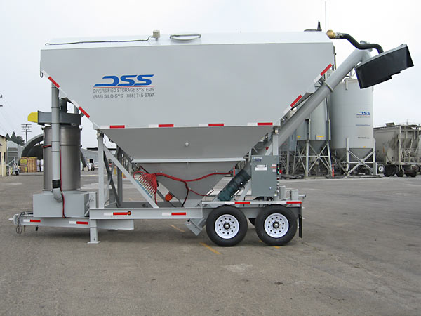 Low Pro Silo with Decumlating Scale System and Transit Mix Truck Dust Collection